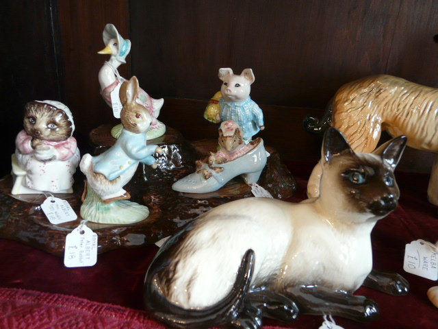 Beatrix Potter and Royal Doulton cat
